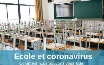 Votre école et le coronavirus: comment nous pouvons vous aider